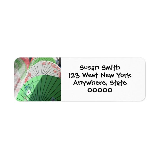 Pretty Parasol Return Address Label