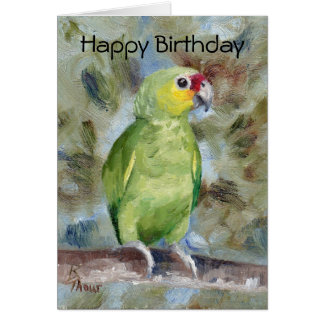 Pretty Parrot Birthday Card
