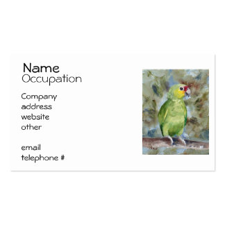 Pretty Parrot Business Cards
