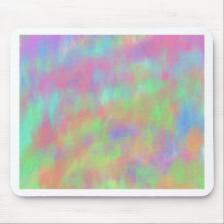 Pretty Pastel Abstract Background Pattern Mouse Pad
