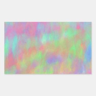 Pretty Pastel Abstract Background Pattern Rectangular Sticker
