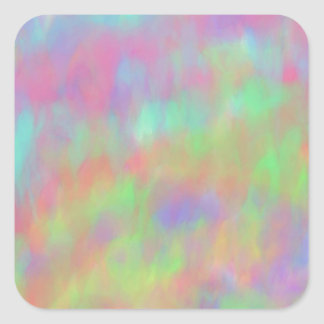 Pretty Pastel Abstract Background Pattern Square Sticker