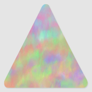 Pretty Pastel Abstract Background Pattern Triangle Sticker