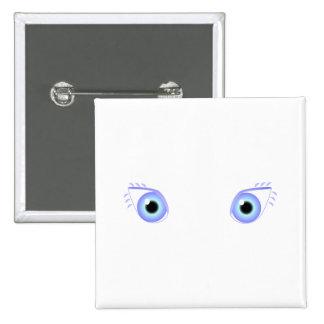Pretty Pastel Blue Eyes 15 Cm Square Badge