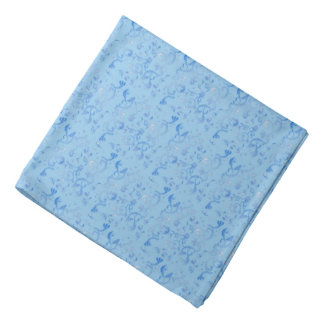 Pretty Pastel Blue Floral Bandannas