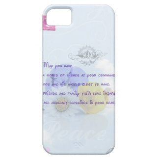 Pretty Pastel Blue Floral Irish Blessing iPhone 5 Case