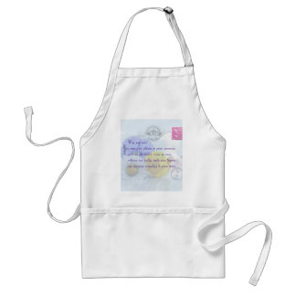 Pretty Pastel Blue Floral Irish Blessing Standard Apron