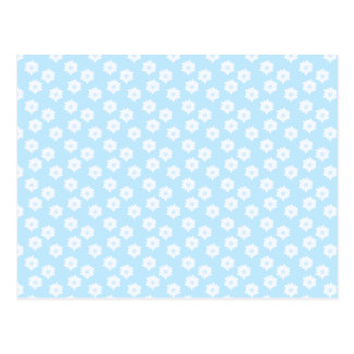Pretty Pastel Blue Floral Pattern. Postcard