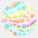 Pretty Pastel Bubbles Round Sticker
