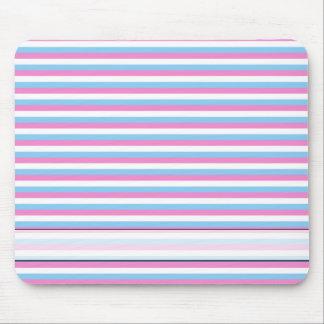 Pretty pastel candy Stripes. Mouse Mat