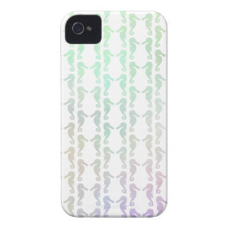 Pretty Pastel Color Seahorse Pattern iPhone 4 Covers