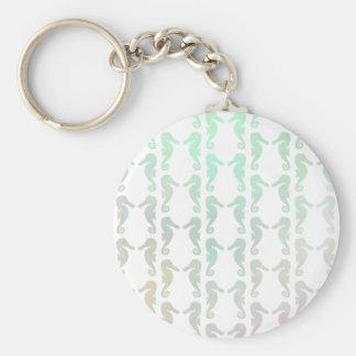 Pretty Pastel Color Seahorse Pattern Key Chains