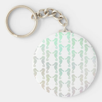 Pretty Pastel Color Seahorse Pattern Key Chains