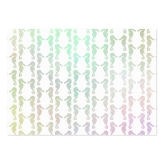Pretty Pastel Color Seahorse Pattern Pack Of Chubby Business Cards