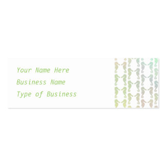 Pretty Pastel Color Seahorse Pattern Pack Of Skinny Business Cards
