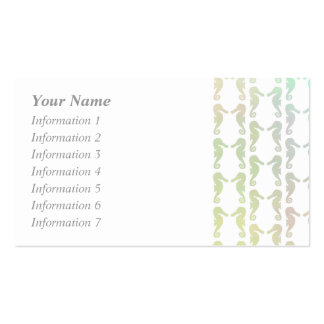 Pretty Pastel Color Seahorse Pattern Pack Of Standard Business Cards