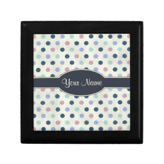 Pretty Pastel Colors 2 Polka Dot Pattern Gift Box