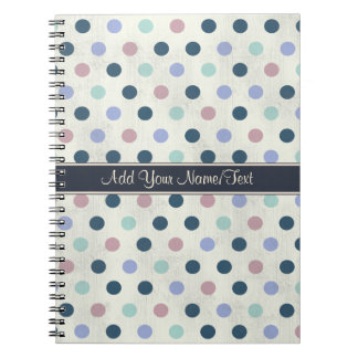 Pretty Pastel Colors 2 Polka Dot Pattern Notebook
