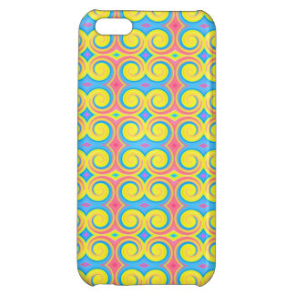 Pretty Pastel Colors Swirl Pattern Case For iPhone 5C