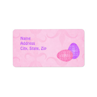 Pretty pastel Easter eggs Address Label