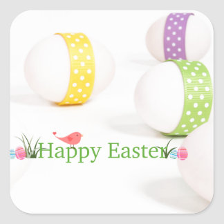 Pretty Pastel Eggs Square Sticker