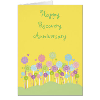 Pretty pastel flowers and butterflies card