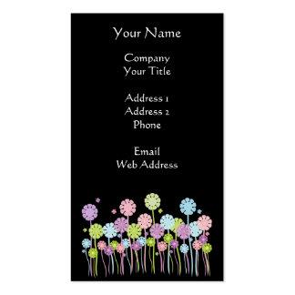 Pretty Pastel Flowers Butterflies Business Cards
