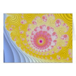 Pretty Pastel Fractal Greeting Card