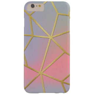 Pretty Pastel Geometrical Mosaic Pattern Barely There iPhone 6 Plus Case