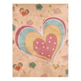 Pretty Pastel Heart Postcard
