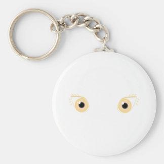 Pretty Pastel Orange Eyes Keychain