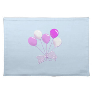 Pretty Pastel Pink and White Balloons Place Mats