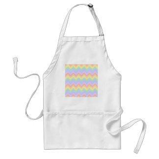 Pretty Pastel Rainbow Zigzag Stripes. Standard Apron