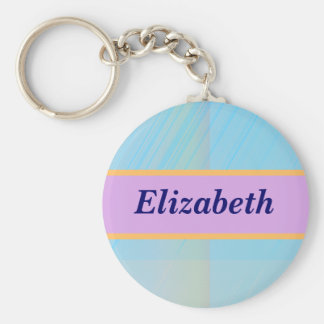 Pretty Pastels - Pale Colored Abstract Basic Round Button Key Ring