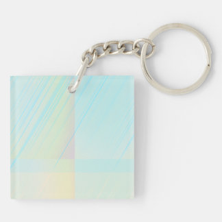 Pretty Pastels - Pale Colored Abstract Double-Sided Square Acrylic Keychain