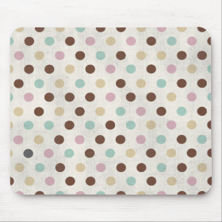 Pretty Pastels Polka Dot Pattern Mouse Mat