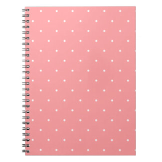 Pretty Pattern Gift Pink Polka Dot Spiral Note Book