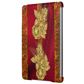 Pretty Pattern Gold Rose Case For iPad Air