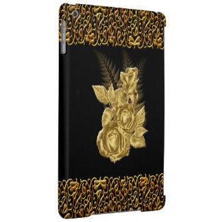 Pretty Pattern Gold Rose iPad Air Case