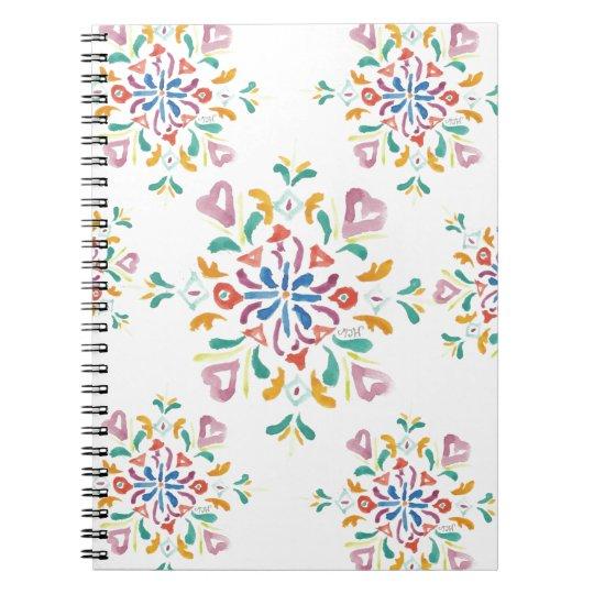 Pretty Pattern Spiral 80 Page Notebook Journal