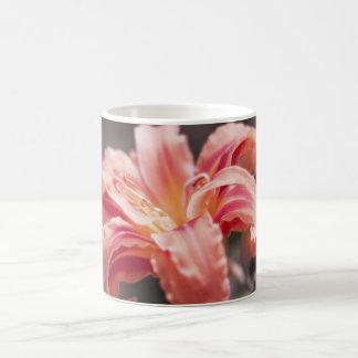 Pretty Peach Flower Basic White Mug