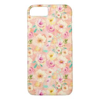 Pretty Peach Watercolor Floral iPhone 8/7 Case