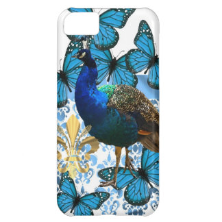 Pretty Peacock and blue butterflies iPhone 5C Case
