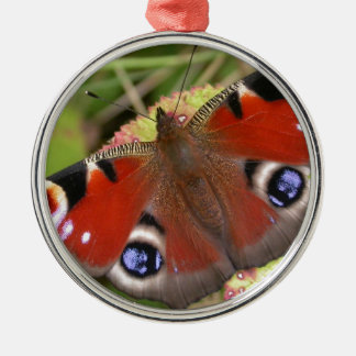 Pretty Peacock Butterfly Christmas Ornament
