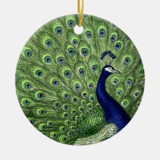 Pretty Peacock Christmas Ornament