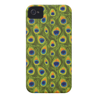 Pretty Peacock Feathers Pattern Case-Mate iPhone 4 Cases