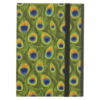 Pretty Peacock Feathers Pattern iPad Air Covers