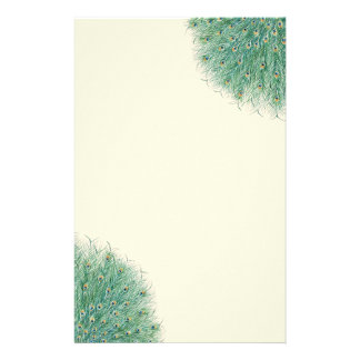 Pretty Peacock Feathers Stationery