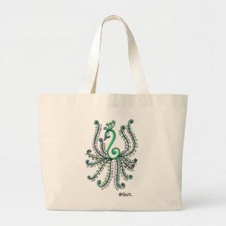 Pretty Peacock Jumbo Tote Bag