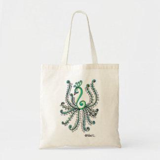 Pretty Peacock Budget Tote Bag
